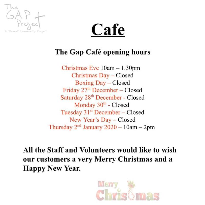 The Gap Cafe Opening Hours